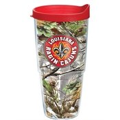 Tervis 1199505 Louisiana Lafayette Ragin' Cajuns Realtree Knockout Tumbler with Wrap and Red Lid 24oz, ()