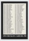 - Checklist (Baseball Card) 1993 The Sporting News Conlon Collection - [Base] #990