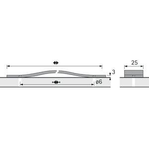 158 mm Leder schwarz 128 mm M/öbelgriff Nica