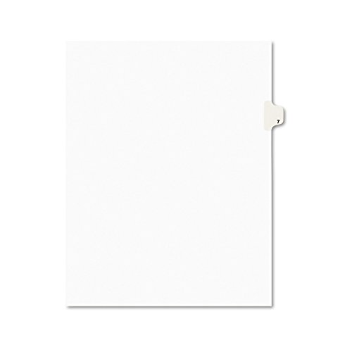 - Avery Individual Legal Exhibit Dividers, Avery Style, 7, Side Tab, 8.5 x 11 inches, Pack of 25 (11917)