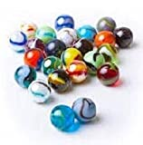 Mega Marbles glass shooters, SET OF 50 assorted bulk - 1'' Shooter Marble