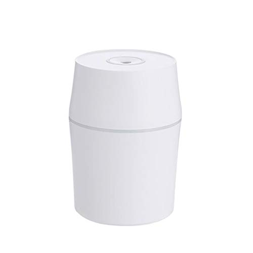 Qianxi 200Ml Mini USB Ultrasonic Air Humidifier Aroma Essential Oil Diffuser Mist Home LED Night Lamp Waterless with Automatic Power Protection,White