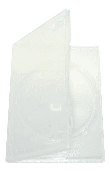 Mediaxpo Brand 50 STANDARD SUPER Clear Single DVD Cases - Amaray Single Dvd Case