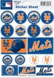 (WinCraft MLB New York Mets Vinyl Sticker Sheet, 5