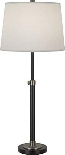 (Robert Abbey 1841X Lamps with Fondine Fabric Shades, Lead Bronze/Ebonized Nickel Finish)