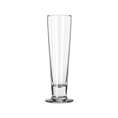 Libbey Catalina Footed Beer Glasses, Tall Beer, 14.5oz, 9 3/8