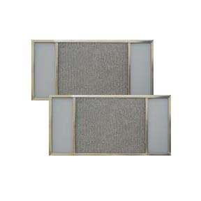 2-PACK Air Filter Factory 8-1/4 x 23-1/2 x 3/8 Range Hood Aluminum Lens Grease Filters ()