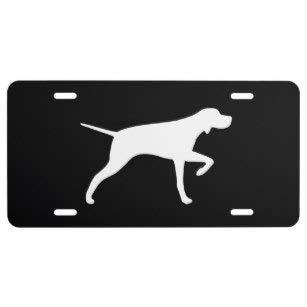 (Yohoba Pointer Dog Silhouette License Plate)