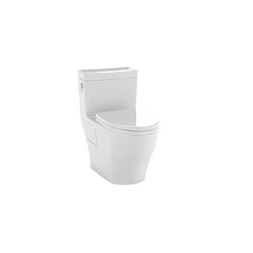 Toto MS624214CEFG#01 Legato One-Piece High-Efficiency Toilet, 1.28 ...