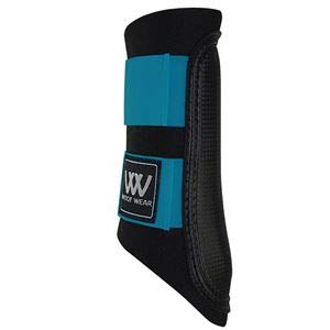 Woof Wear Sport Brushing Boots (Small, Black/Turquoise)