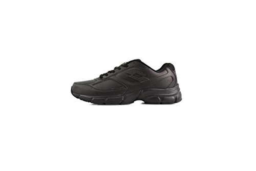 Lotto Antares IX LTH W, Zapatillas de Running Mujer Negro / Gris (Blk / Tit Gry)