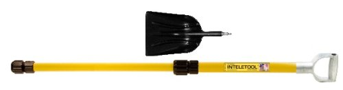 Inteletool Telescopic Poly Scoop Shovel with D Grip 2 to 4 foot by Inteletool