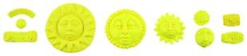 Designer Push Molds-Sun 1 pcs sku# 655468MA