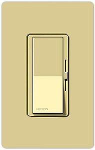 3wy Slide Dimmer - Lutron Deep Back Cover Diva Inc 1000W 3Wy IV Clm Ivory (DV-103PH-IV)
