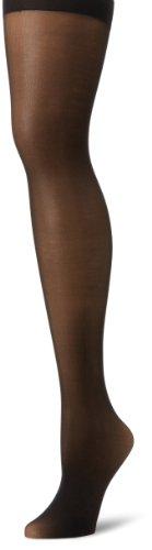 Hanes Silk Reflections Women's Sheer Backseam Pantyhose, Black, A/B