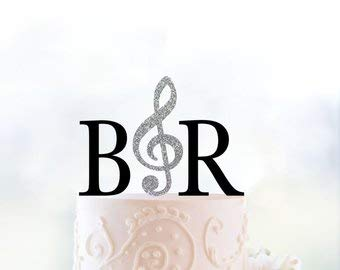 Monogram Wedding Cake Topper – Custom Initials Topper with