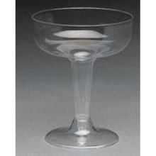 Specialty Stemware - Royal Plasticware Elite Stemware Clear Champagne Glass, 4 Ounce - 25 per pack - 20 packs per case.