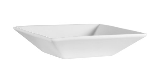 CAC China F-QB7 Sushia 7-Inch by 2-Inch 18-Ounce Super White Porcelain Square Soup Bowl, Box of 24 by CAC China