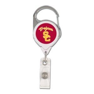 NCAA USC Trojans Retractable Premium Badge Holder, Team Color, One - Malls California Outlets Outlet Premium