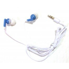 TFD Supplies Wholesale Bulk Earbuds Headphones 100 Pack for iPhone, Android, MP3 Player – Blue