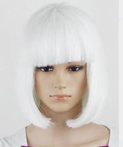 Mermaid Short Straight Hair Wig Flapper Bob Heat Resistant Candy Color Wigs Natural As Real Hair, Fashion for Cosplay Party Halloween Christmas (Mermaid Wig In Blonde)