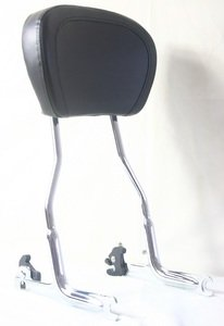 - Harley HD Softail Deluxe FLSTN Upright Detachable Passenger Sissy Bar Backrest with Pad(2005-2012)