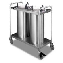 APW Wyott Lowerator Trendline Mobile Two Tubes Heated Dish Dispenser, 5 1/8 to 5 3/4 inch China Size -- 1 each.