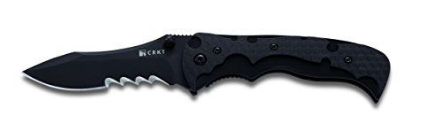 Columbia River Knife and Tool 1091K My Tighe Assisted Opening Folding Black Knife with 3.6-Inches Blade