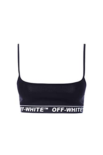 Viscosa Negro Top white Off Owae002r19b780571000 Mujer tIwpxAq