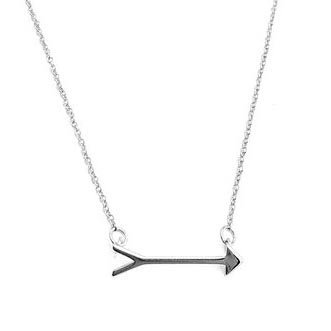 HONEYCAT Mini Arrow Charm Necklace in 24k Gold Plate, 18k Rose Gold Plate, or Silver | Minimalist, Delicate Jewelry ()