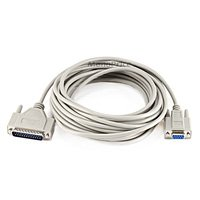 (Monoprice 25-Feet Null Modem DB9F/DB25M Molded Cable (100482))