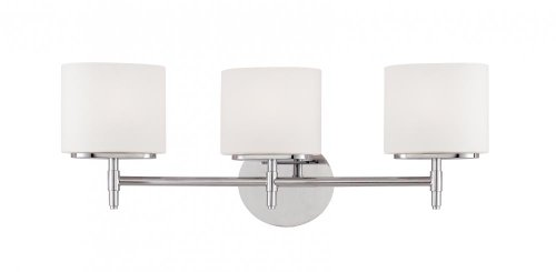 Trinity Three Light Vanity - Trinity 3-Light Vanity Light - Satin Nickel Finish with Opal Matte Glass Shade