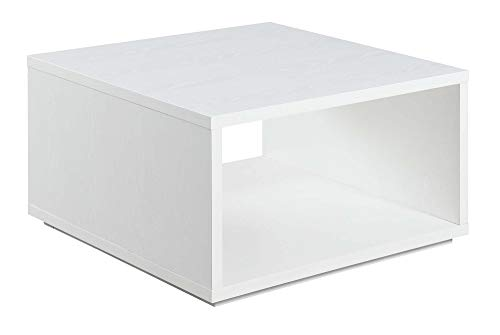 Convenience Concepts Northfield Admiral Square Coffee Table, White (Melamine Table Coffee)