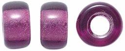 Preciosa Ornela Traditional Czech Glass Crow Roller 50-Piece Loose Beads, 9mm, Transparent Amethyst (Crow Roller)