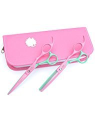 Barber Salon Hair Cutting Tools Set with Case (Pink) - 3