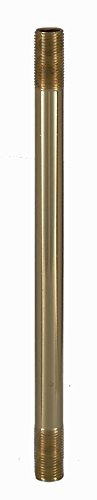 1/8 Ip Unfinished Brass - B&P Lamp 4 Inch Solid Brass 1/8 IP Threaded Rod