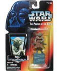Star Wars Power of the Force Yoda Red Card Action Figure (Star Wars Jedi Force)