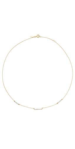 Adina Reyter 14k Gold Pave 3 Bar Chain Choker Necklace (Reyter Necklace Adina)