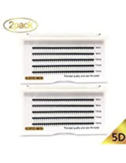 55cc0ca58cb 2 Trays 5D Volume Lashes Individual Eyelash Extensions C Curl .07mm  Thickness 8-12mm