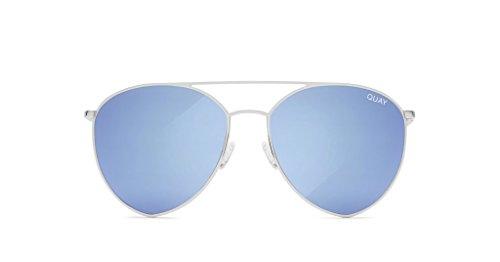 Quay x Jasmine Indio Mirrored Sunglasses (Silver, Blue - Women India Sunglasses For