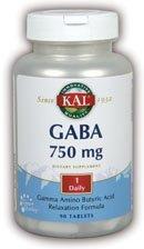 Kal 750 Mg GABA, 90 Count