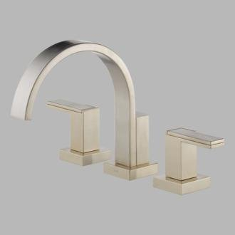 Roman Tub Filler Faucet Trim Double Handle 3-Hole, Brushed Nickel ()