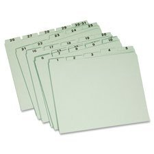 Globe-Weis Recycled Daily Indexed Top Tab Guides (GLW31PX91) by Globe Weis ()