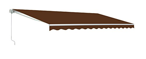ALEKO AW10X8BROWN36 Retractable Patio Awning 10 x 8 Feet Brown (Sunbrella Awnings Retractable)