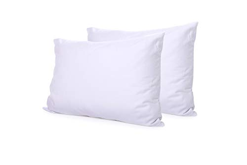 36 Brushed Linen - Meraki Pitt's Linens Down Alternative King Size Pillows for Sleeping 2 Pack (20 x 36 Inch) with Premium Double Brushed Microfiber Pillow Cover