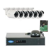 GW Security VD6C8CH1337IP 8 Channel 1080P NVR Surveillance System with 6 x 1.3MP 960P HD Outdoor or Indoor Onvif PoE IP Security Camera 2TB Hard Drive