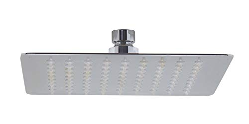 ALFI brand RAIN8S 8-Inch Solid Square Ultra Thin Rain Shower Head, Polished Stainless Steel