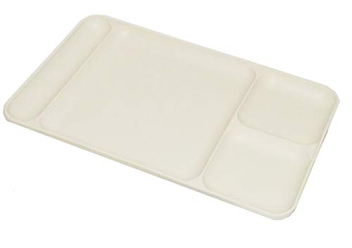 Tupperware Vintage Off White Light Almond Divided Cafeteria Style 15 x 9 Dining Tray
