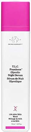 Drunk Elephant T.L.C. Framboos Glycolic Night Serum - Skin Care Brightening Night Serum - 1.69 Ounces