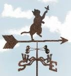 Cat with Butterfly Garden Stake Weathervane